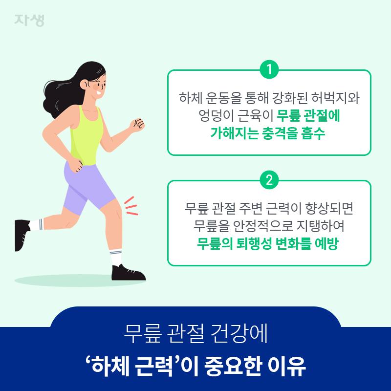 무릎 관절 건강에 '하체 근력'이 중요한 이유 | 자생한방병원·자생의료재단