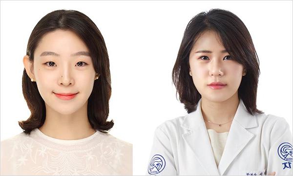 해당 연구 논문들의 1저자인 자생한방병원 기유미 한의사(왼쪽)와 성재연 한의사   자생한방병원·자생의료재단
