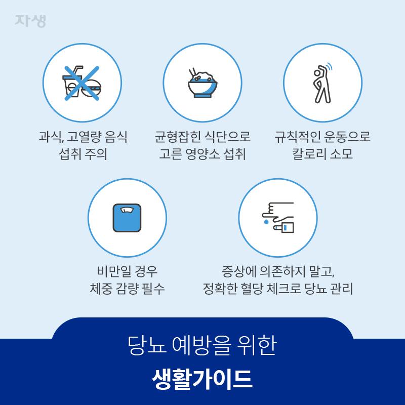 참고 이미지 : 당뇨 예방을 위한 생활가이드 | 자생한방병원·자생의료재단