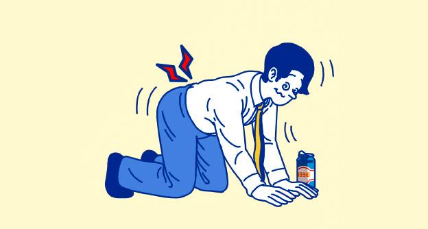 [카드뉴스] 술 마신 다음날 유독 허리통증이 심해져요